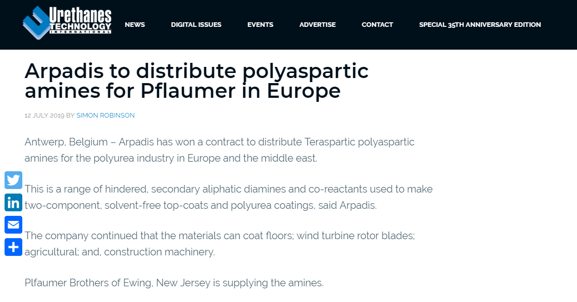 polyaspartic amines for Pflaumer